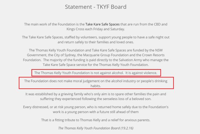 TKYF statement